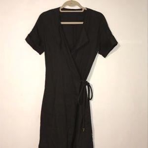 The Row linen dark brown dress
